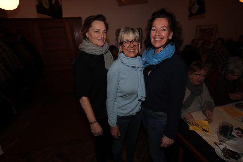 Elisabeth Pucher, Silvia Kircher und Nancy Beck.