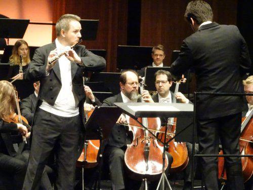 Erwin Klambauer, seit 2014 Soloflötist der Wiener Symphoniker, begeisterte beim Bregenzer Meisterkonzert. Veranstalter