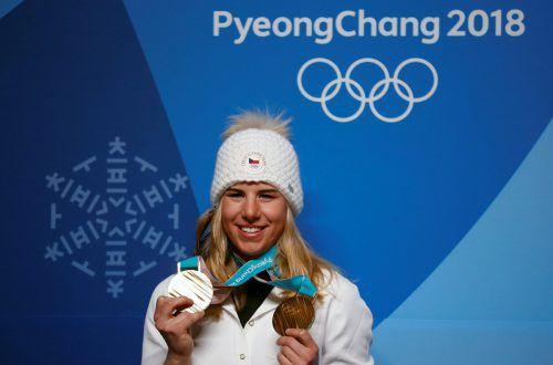 Ester Ledecka: Gold wird vermarket. Reuters