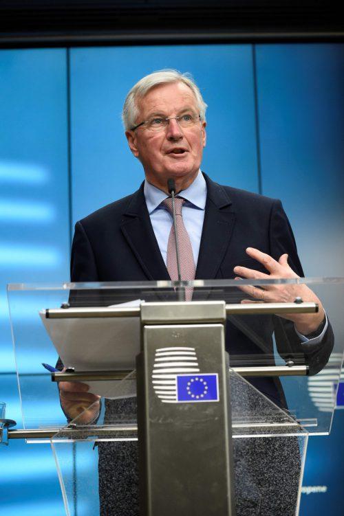 EU-Chefverhandler Barnier legt heute den Entwurf eines Austrittsvertrags vor. AFP