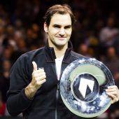 Federer krönt die Rückkehr mit 97. Titel