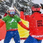 Snowboardcrosser Schairer (l.) und Hämmerle sind auf Edelmetall fixiert. C1