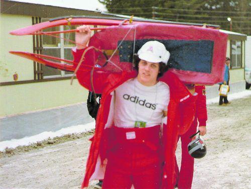 Franz Wilhelmer schulterte bei zwei Olympischen Winterspielen den Rodelschlitten.os