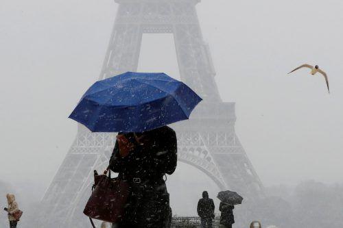 Für den Pariser Großraum wurden fünf bis zehn Zentimeter Schnee vorhergesagt. RTS