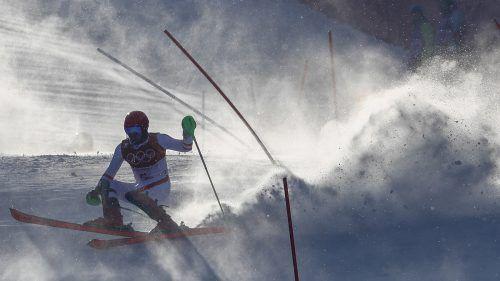 Für Marcel Hirscher war gestern im Slalom schon nach rund 22 Sekunden Schluss. Dass seine Serie von 21 Slaloms ohne Aus just bei den Olympischen Spielen riss, nahm der Salzburger jedoch mit Fassung.AP