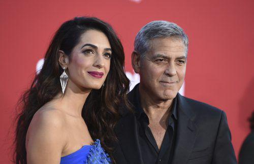 George und Amal Clooney wollen auch selbst an den Protesten teilnehmen. AP