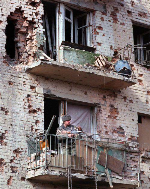 Grozny im Jahr 2000, als Malika flüchtete. Der zweite Tschetschenienkrieg hatte 1999 begonnen und wurde 2009 offiziell als beendet erklärt. EPA