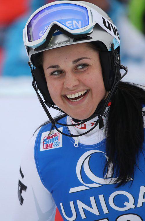 Gut lachen hat Franziska Gritsch derzeit bei der Junioren-Ski-WM in Davos.gepa