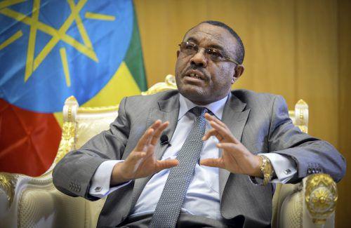 Hailemariam Desalegn will auch die Leitung der Regierungspartei EPRDF abgeben. Die Opposition ist im Parlament nicht vertreten. AP