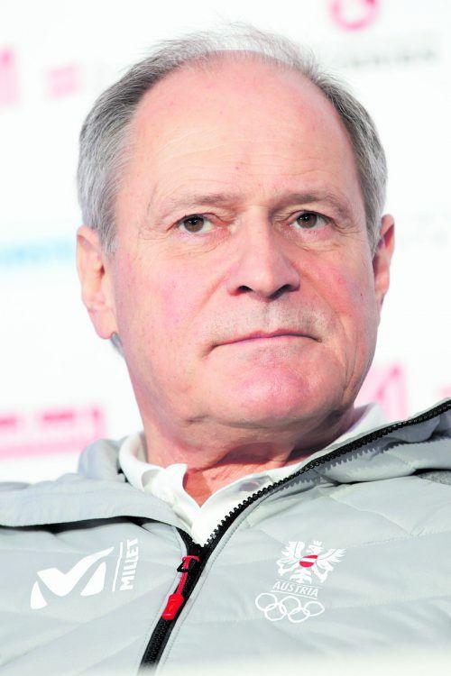 Haubenkoch Wolfgang Ponier (r.) ist – wie schon in Rio vor zwei Jahren – bei den Pyeongchang-Spielen für das Team von Seidl-Catering im Einsatz. gepa