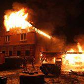 Lauteracher Mehrfamilienhaus durch Brand völlig zerstört