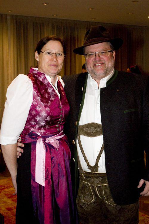 Isolde und Ernst Schmid hatten ihren Spaß beim Jägerkränzle.