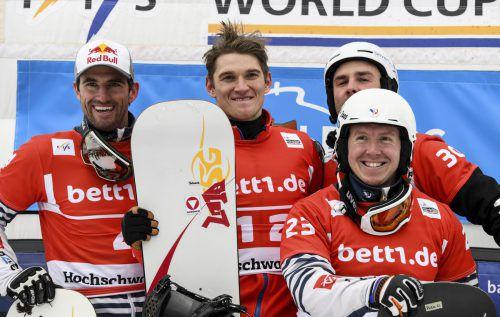 Julian Lüftner feierte in Feldberg seinen ersten Weltcupsieg. AP