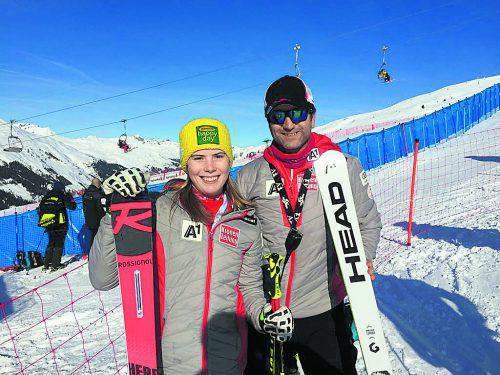 Katharina Liensberger bescherte ÖSV-Nachwuchschef Christian Greber gleich zu Beginn der Junioren-WM im Riesentorlauf eine Silbermedaille.cg