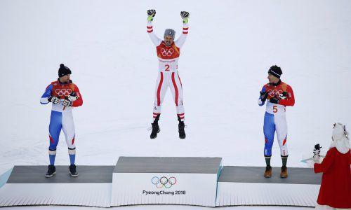 Marcel Hirscher ist gestern der ganz große Sprung gelungen. Der Salzburger machte sich zum Olympiasieger. Er gewann die Kombination vor den beiden Franzosen Alexis Pinturault und Victor Muffat-Jeandet.Reuters