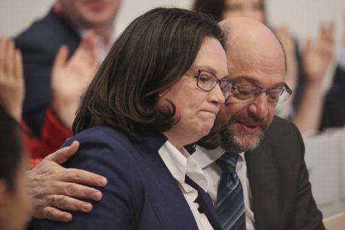 Martin Schulz geht. Er hat damit den Weg für die Wahl von Andrea Nahles zu seiner Nachfolgerin als SPD-Vorsitzende geebnet. AP