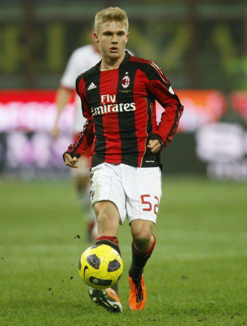Merkel debütierte mit 18 Jahren für den AC Milan in der Champions League.ap