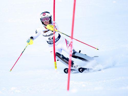 Michelle Niederwieser ist in Davos im Dauereinsatz.gepa