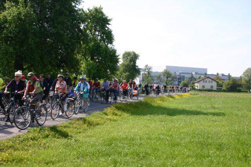 Mit dem Riedtag wird stets auf die Radwegesituation aufmerksam gemacht. Diese dürfte sich bald bessern.