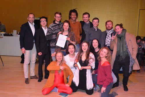 """Mit """"Say yes"""" ging für """"StimmImpuls"""" ein Wunsch in Erfüllung. Die Studierenden der Musikhochschule Nürnberg gewannen den """"Hugo"""".Marion Hofer"""