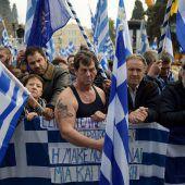 Protest gegen Mazedonien-Lösung