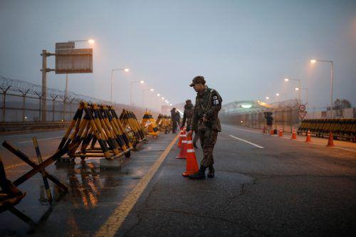 Nur zwei Stunden Fahrtzeit nördlich der Olympia-Region liegt die demilitarisierte Zone, das Niemandsland zwischen Nord- und Südkorea.Reuters