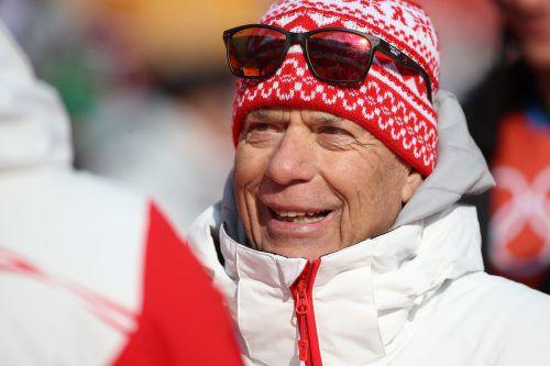 ÖSV-Präsident Peter Schröcksnadel ist mit der Medaillen-Bilanz der Alpinen zufrieden.Gepa