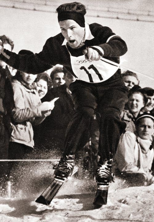 Othmar Schneider wurde 1952 im Slalom Olympiasieger und Weltmeister.OS