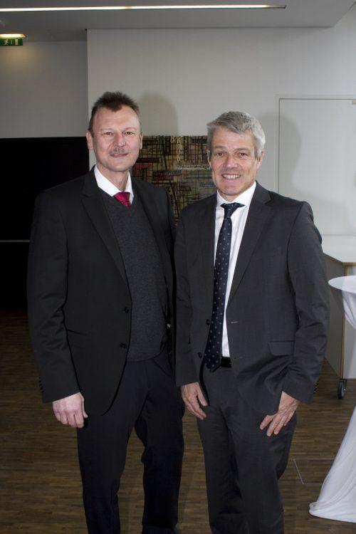 Peter Fraunberger (KHBG) und Wolfgang Grabher (Landessanitätsabteilung).