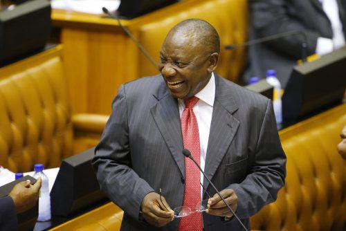 Ramaphosa galt bereits in den 90er-Jahren als möglicher Mandela-Nachfolger. AP
