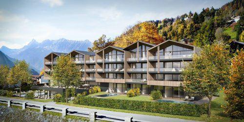 Die Bebauung des ehemaligen Kurhotel-Areals in Schruns sieht ein luxuriöses Chalet-Hotel vor. Alpstein