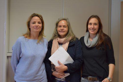 Stellenleiterin Nadja Dorner, Klaudia Kohler und Andrea Ritter sorgen für die Betreuung im Johann-Georg-Fuchs-Haus. MO