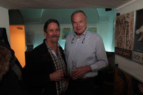 Unter den Gästen: Lothar Schwab (l.) und Walter Egle.