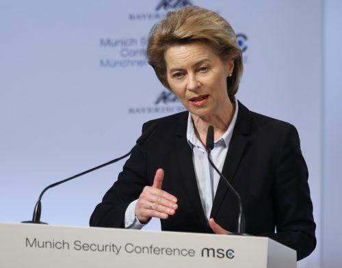 Ursula von der Leyen eröffnete die Münchner Sicherheitskonferenz. reuters