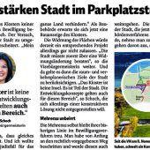 Parkplatz-Disput ruft Linhart auf den Plan