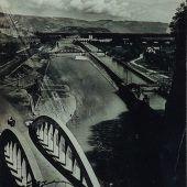 Einst und Jetzt. Vereinigungsbrücke in Feldkirch