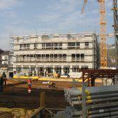 Erster Rohbau am Jahnplatz fertig