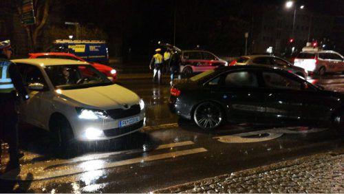 Am Samstagabend rückte die Polzei zu einer Schwerpunktkontrolle nach Feldkirch aus.