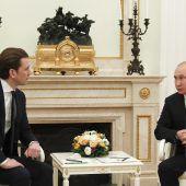 Kurz und Putin betonen gute Zusammenarbeit