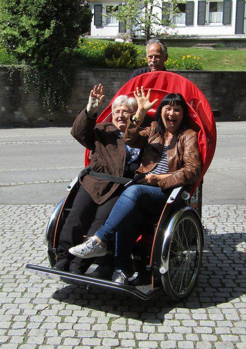 """Auch Rikscha-Ausfahrten stehen auf dem Programm von """"Treffpunkt Pavillon"""". Gemeinde"""