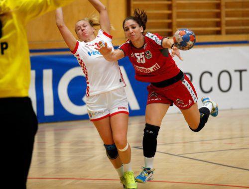 Auf Tamara Bösch wartet am Samstag das erste Länderspiel in Vorarlberg. Im Sommer wird die 28-jährige Lustenauerin aufgrund eines Knorpelschadens ihre aktive Karriere beenden.GEPa