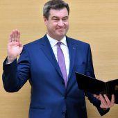 Landtag wählt Söder zum Regierungschef