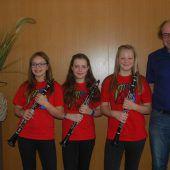 Erfolgreiches Klarinetten-Trio
