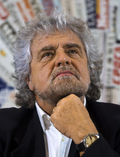Beppe Grillo will mit seiner Fünf-Sterne-Bewegungdie Führung desKabinetts.AP