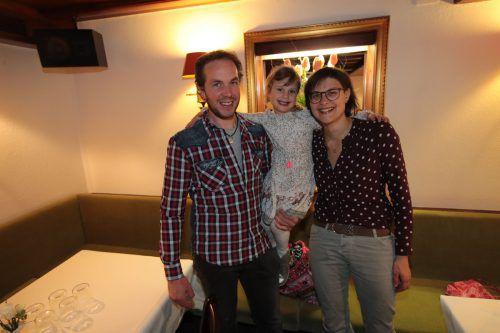 Bernhard, Finja und Cornelia Natter amüsierten sich.