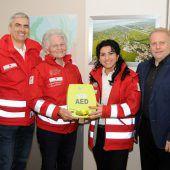Defibrillator für Ersthelfer im Rheindelta