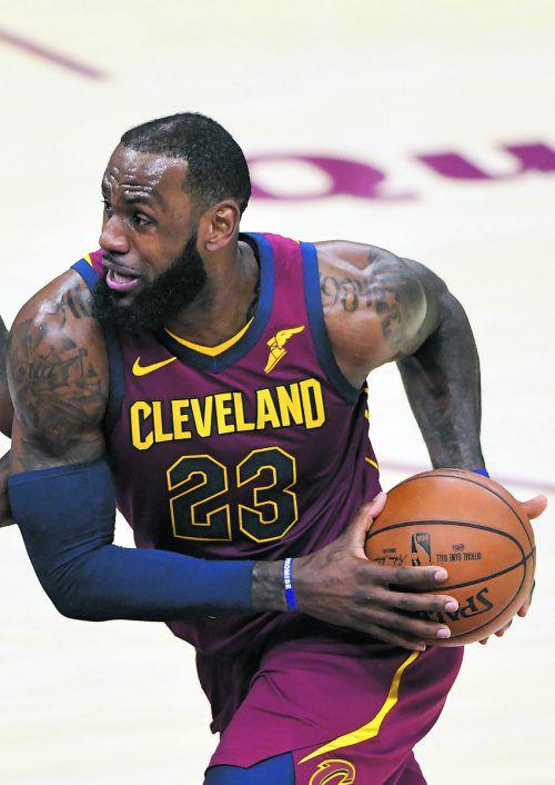 Clevelands LeBron James spielte in der NBA wieder groß auf.ap