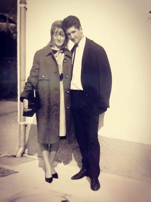 Das hübsche Paar in jungen Jahren.