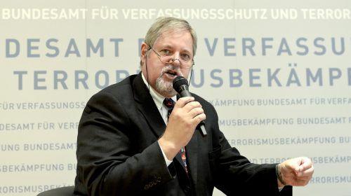 Gridling trat Dienst als Chef des Bundesamts für Verfassungsschutz wiederan. APA