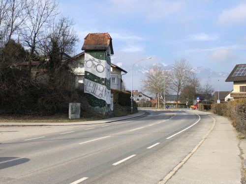 Der Nofler Kreisel soll durch eine neue Radüberfahrt sicherer werden. Vn/WIM